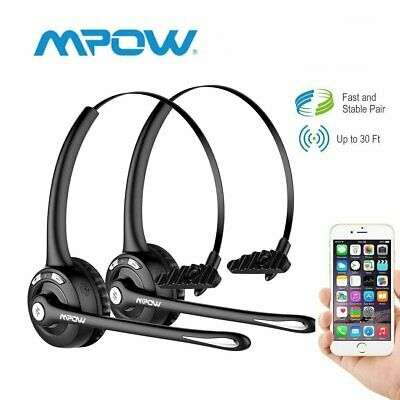 Mpow Bluetooth Headphone Headset Wireless Earphone Driver Truck Noise Cancelling