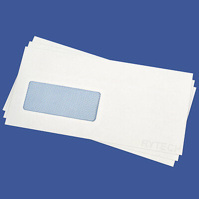 1000 X DL White Window Self Seal Envelopes 90GSM Opaque Letter Pack Office Home
