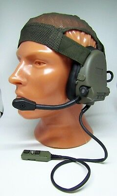 ORIGINAl Russian Army Ratnik Active Headphones 6m2-1 with MICROPHONE included.