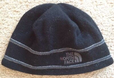 5e7c57253 THE NORTH FACE Beanie Hat Junior Youth Size Medium Logo Knit Blue ...