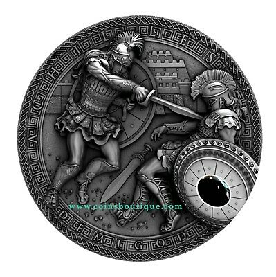 ACHILLES vs HEKTOR-DEMIGODS 2oz ULTRA HIGH RELIEF SILVER COIN NIUE 2017