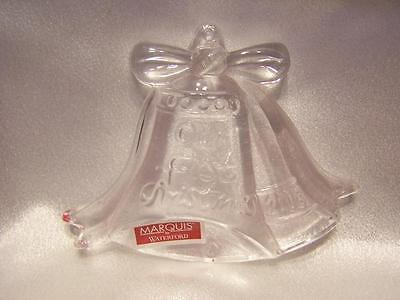 Waterford Marquis 2008 Our First Christmas Ornament Crystal Wedding Bells