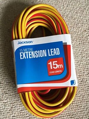 Gang Extension Lead Cable Heavy Duty Cords with 13A Plug Socket (15M)