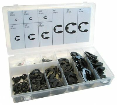 300 Piece External E CLIP Retaining ring Circlip Assortment from FRAGRAM TOOLS