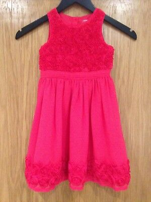 Young Dimension Girls Aged 2-3 Yrs Red Rose Floral Dress 100% Polyester