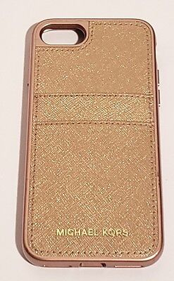 3be845e57c7a9 Michael Kors Saffiano Leather Phone Case for iPhone 7   iPhone 8 - Rose gold