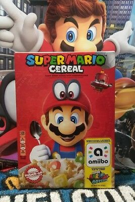 Super Mario Odyssey Cereal Limited Edition Nintendo Amiibo.ship Fast