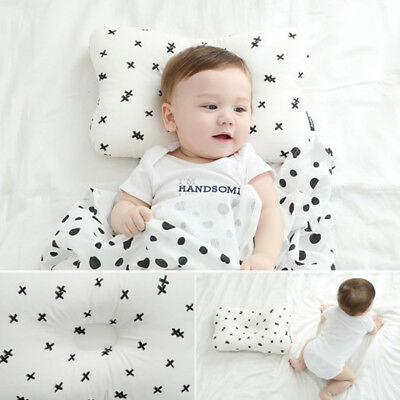 Newborn Baby Infant Pillow Cotton Prevent Flat Head Anti Roll Support Neck 1pc