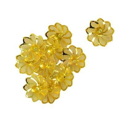 10Pcs New Charm Lotus DIY Jewelry Findings Beads Spacer Beading Base Setting