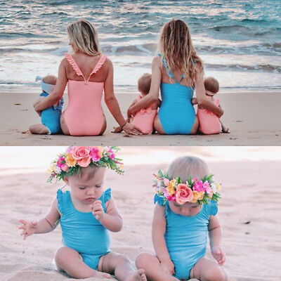 Nwt Newborn Kids Baby Girls Bowknot Swimsuit Swimwear Bathing Suit Beachwear AU