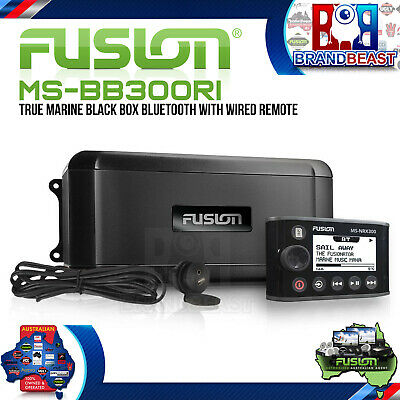 Fusion MS-BB300Ri True Marine Black Box Bluetooth Iphone Android Ms-nrx300 Usb