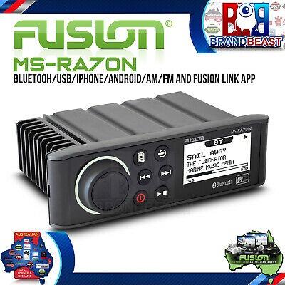 Fusion MS-RA70Ni Am Fm Receiver Iphone Android NMEA 2000 Bluetooth IPx7 LCD