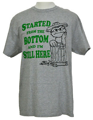 Oscar The Grouch T Shirt Sesame Street Garbage Can Graphic