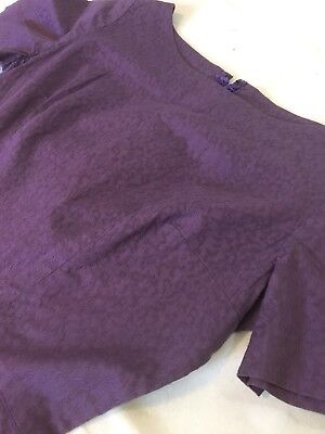Vintage 1950s Rare Purple Brocade Fitted Wiggle Day Cocktail Party Dress 39 Bust