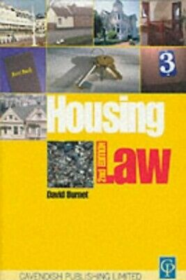 Housing Law by Burnet, David Paperback Book The Cheap Fast Free Post
