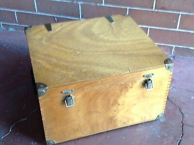 Old Wooden Technical Equipment/ Electronic Instrument Case