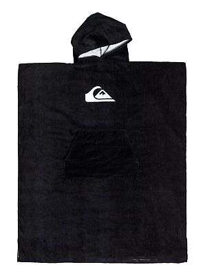Quiksilver Surf Poncho Black Changing Hooded Towel