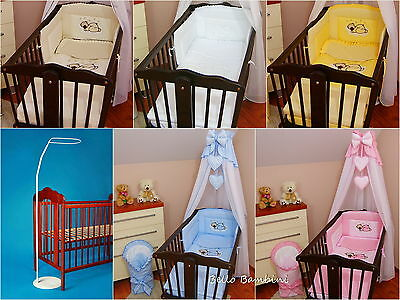 10pcs CRIB bedding set /Bumper/sheet/duvet/CANOPY/Canopy Holder/HEARTS