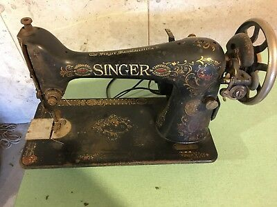 SINGER MODEL 40 Antique Sewing Machine 40 Vintage Serial Number Impressive Where Is The Serial Number On A Singer Sewing Machine