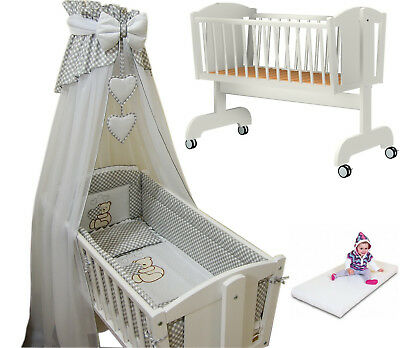 12p CRIB bedding set/CRIB/MATTRESS /BumperALL ROUND/sheet/duvet/CANOPY/HOLDER
