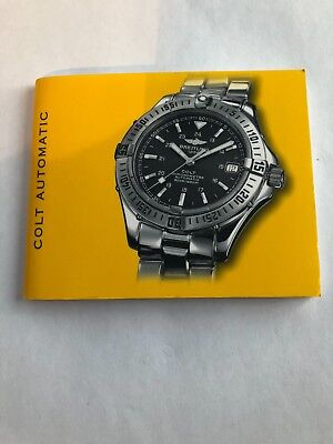 breitling colt automatic watch instruction service manual book guide rh picclick co uk breitling colt chronograph user manual Breitling Colt Skyracer