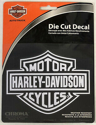 Harley-Davidson Bar & Shield Die Cutz Decal White NEW