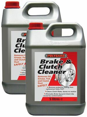2x Polygard - Brake & Clutch Cleaner Removes Oil, Grease, Dust Polyguard 5L