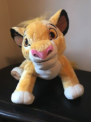 "Disney Store Exclusive Lion King 13"" Young Simba Plush Stuffed Animal Toy EUC"