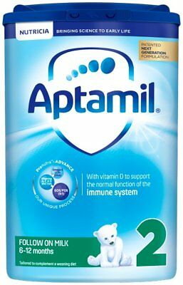 Aptamil 2 Follow On Milk Powder 900 Grams from 6 to 12 months ( 6 pack)