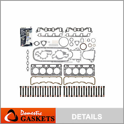 "92-02 Chevrolet GMC 6.5L Turbo Diesel 0.010"" thicker Full Gasket Set Head Bolts"