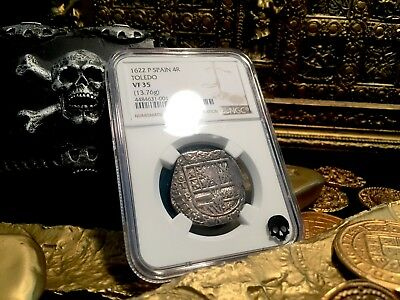 "Spain 4 Reales ""Dated 1622"" Atocha Year Silver Pirate Coin Treasure Doubloon!"