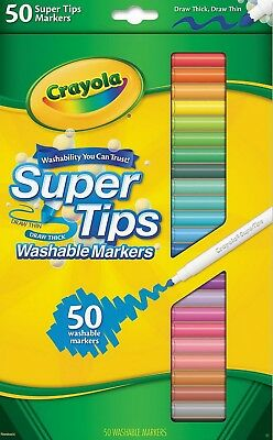 Crayola Washable Super Tips Markers with Silly Scents 50