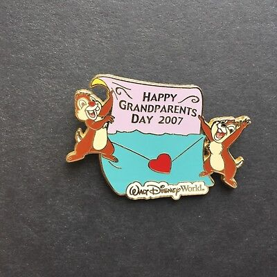 WDW Grandparents Day 2007 Chip n Dale Limited Edition 1000 Disney Pin 56711