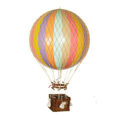 "Hot Air Balloon Model Pastel Rainbow Striped 13"" Hanging Ceiling Home Decor New"