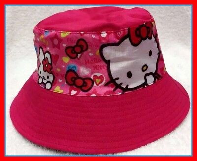 Children's Cotton Bucket Hat - Hello Kitty