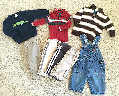 used 6-9 month baby boy clothes fall winter Gymboree, Carter's Childrens Place