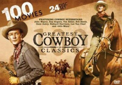 GREATEST COWBOY CLASSICS 100 MOVIES New Sealed 24 DVD Set