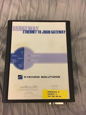 Used  Pyramid Solutions AB7645  Ethernet to J1939 Gateway Module
