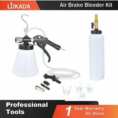 Air Brake Bleeder Kit Clutch Vacuum Oil Bleeding Extractor Fluid Fill Adapters