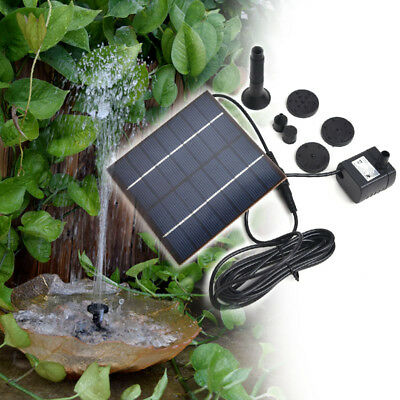 Solar Water Fountain Pump Outdoor 1.2W Solar Panel for Pond Fountains Waterfalls