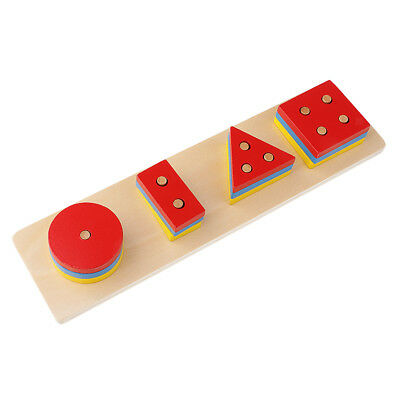 Wooden Toys, Montessori Geometry Leaning Early Educational Toys for Kids #7