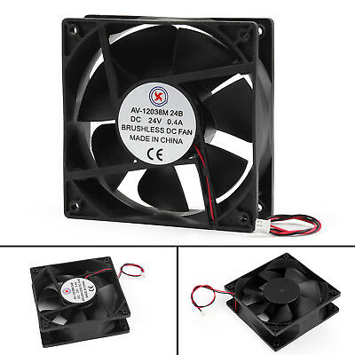 DC Brushless Cooling Fan 24V 0.4A 12038B 120x120x38mm 2 Pin Wire Cooler Fan AU