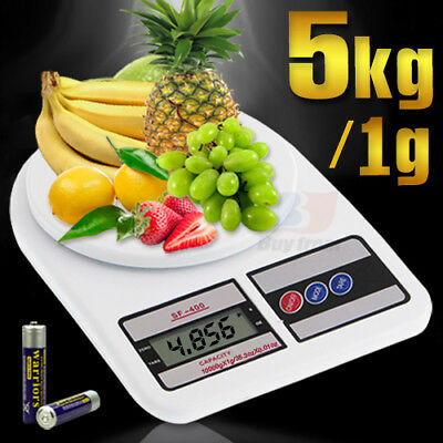 5kg/1g Digital LCD Electronic Kitchen Scale Food Weighing Postal