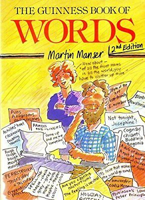 The Guinness Book of Words by Manser, Martin H. Paperback Book The Cheap Fast