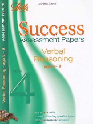 Verbal Reasoning Age 8-9: Assessment Papers (Letts 11+ Success), Various, New co