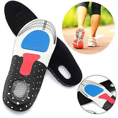 Unisex Gel Orthotic Sports Running Insoles Insert Shoe Pad Arch Support Cushion