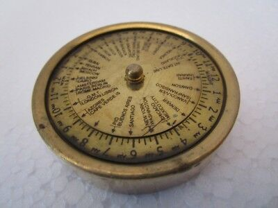 Brass World Timer - Little and Very Nice - Nautical / Marine-FREE SHIPPING(1205)