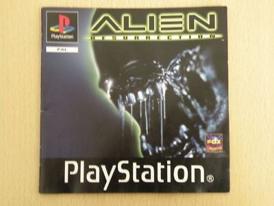 Playstation 1 Manual * ALIEN RESURRECTION * Manual ONLY Retro Rare 22227