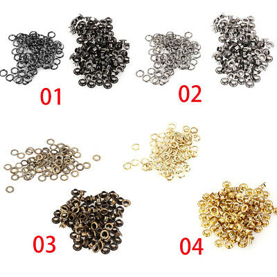 100pcs/lot Metal Eyelets Grommets 4mm for Leather Craft DIY Scrapbooking Shoes