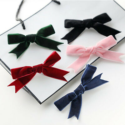 2Pcs Women's Velvet Bow Hairpins Girl' Cute Hair Clips Hair Accessories